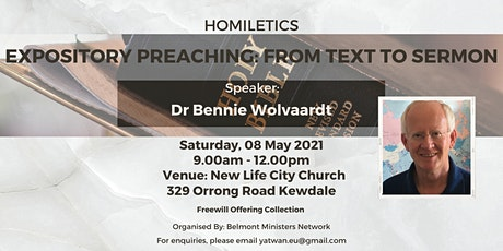Expository Preaching: from Text to Sermon tickets