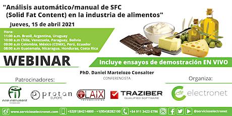 Análisis SFC (Solid Fat Content) para la industria de Alimentos . boletos