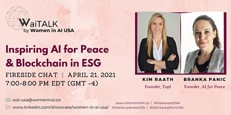 Women in AI USA - Inspiring AI for Peace and Blockchain in ESG tickets