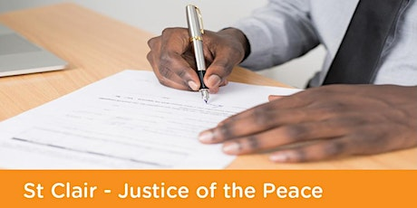 Justice of the Peace: St Clair Library - Thursday 15th April 2021 tickets