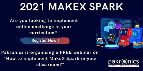 Introduction to MakeX Spark- An online robotics competition tickets