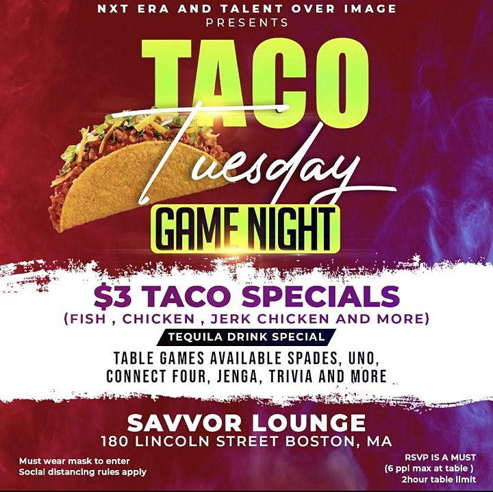 TACO TUESDAYS  ($3 TACO SPECIALS) image