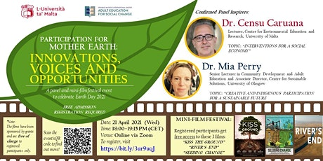 Participation for Mother Earth: Innovations, Voices and Opportunities tickets