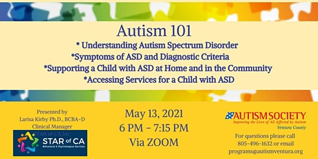 Autism Society Ventura County presents Autism 101-English tickets