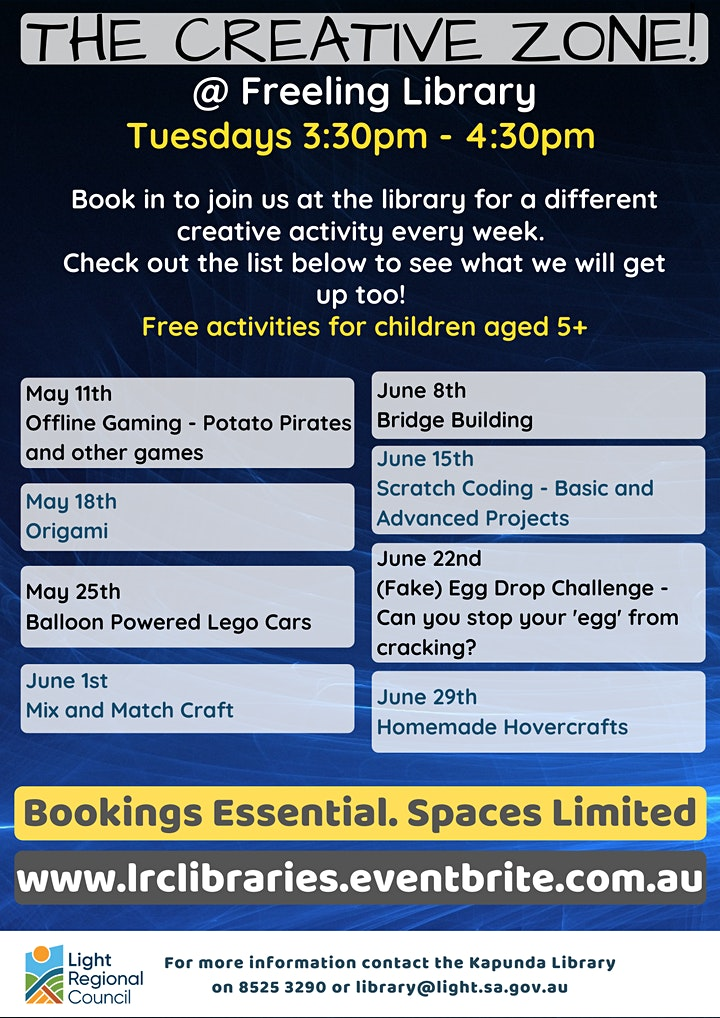 Term 2 The Creative Zone @ The Freeling Library image