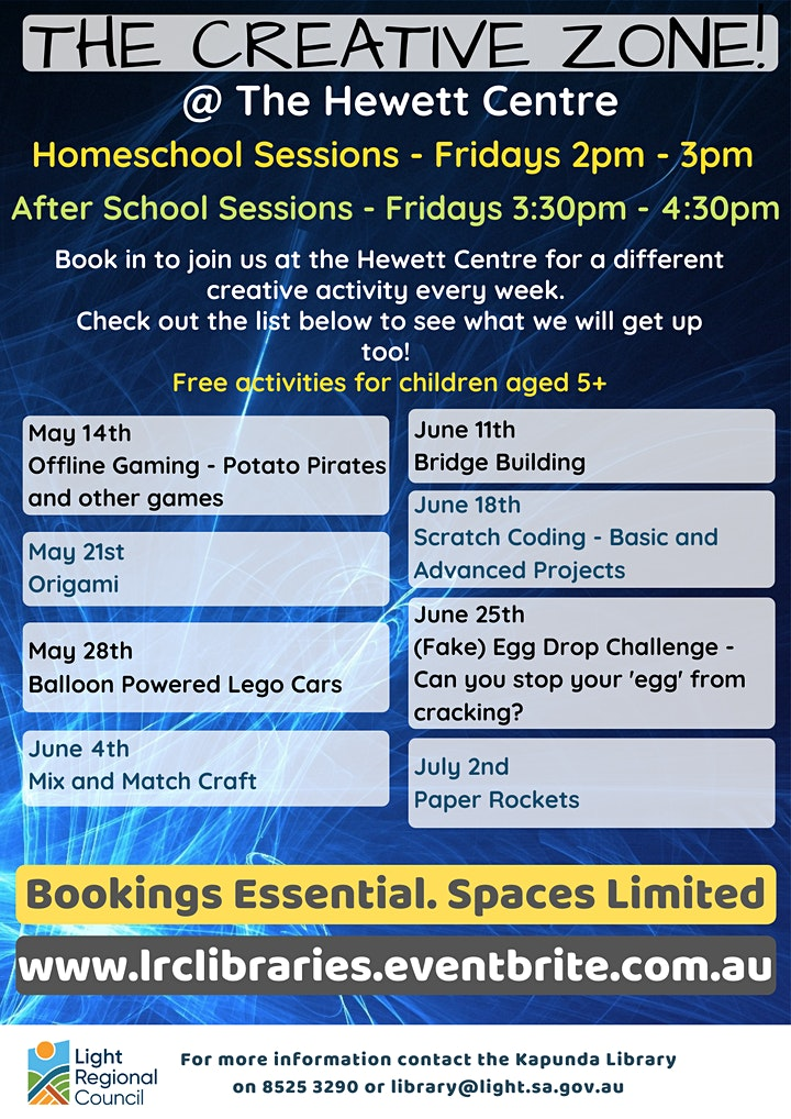 Term 2 Homeschool Sessions -  The Creative Zone @ The Hewett Centre image