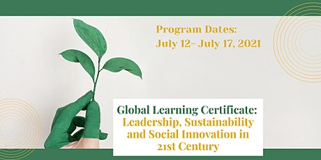 Global Learning Certificate: Leadership,Sustainability & Social Innovation tickets