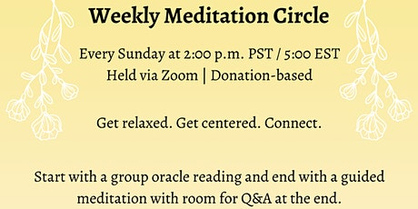 Weekly Meditation Circle with Vulnerable Heart Meditation tickets
