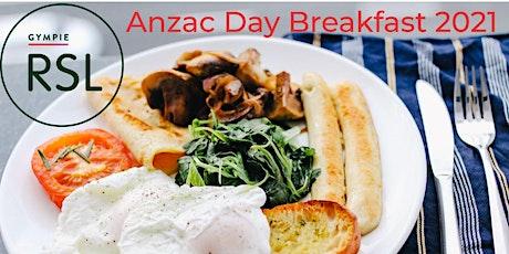 Breakfast - Anzac Day 2021 tickets