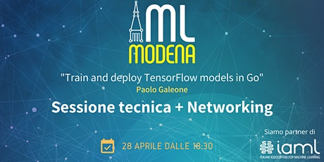Machine Learning Modena Meetup Aprile 2021 boletos