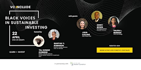 VC Include's Black Voices in Sustainable Investing #3 Tickets