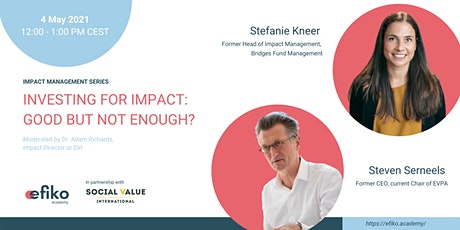 Investing for impact - good but not enough? tickets