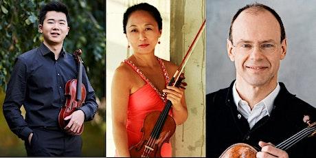 Simon Zhu, violin X Ying Zhang, violin X Ulrich Knörzer, viola  Trio tickets