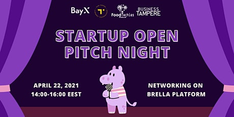 Startup Open Pitch Night Tickets
