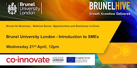 Introducing Brunel University London (BUL) services to SMEs tickets