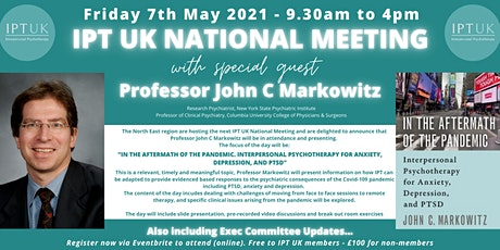 IPT UK NATIONAL MEET with Prof John C Markowitz (FREE to IPT UK members) tickets