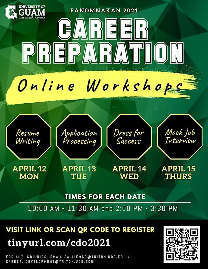 UOG Career Preparation Workshops image
