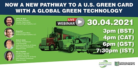 Now a new pathway to a U.S. Green Card with a global green technology tickets