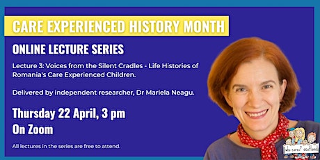 Care Experienced History Month: Online Lecture Three tickets