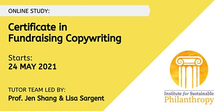Certificate in Fundraising Copywriting (May 2021) tickets