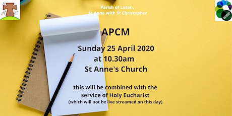 APCM combined with the service of Holy Eucharist tickets