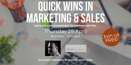 Quick wins in Marketing and Sales Tickets
