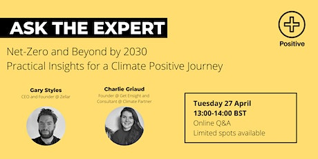 Ask the Expert: Net-Zero and Beyond By 2030 tickets