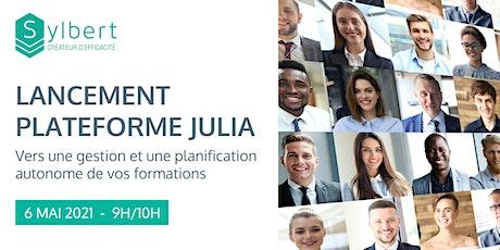 Lancement - Plateforme Julia (Gérer ses formations professionnelles) billets