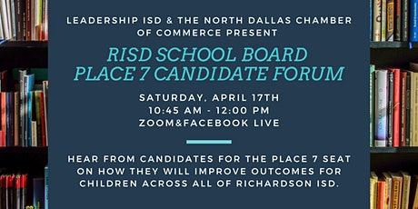 Richardson ISD Place 7 Candidate Forum tickets
