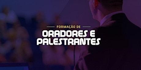 FORMAÇÃO DE ORADORES E PALESTRANTES ingressos