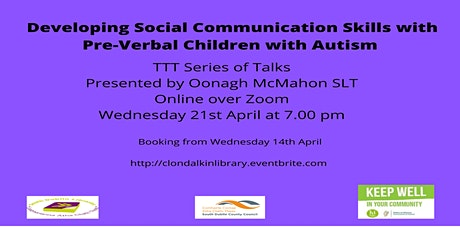 Developing Social Communication Skills with Pre-Verbal Children with Autism tickets