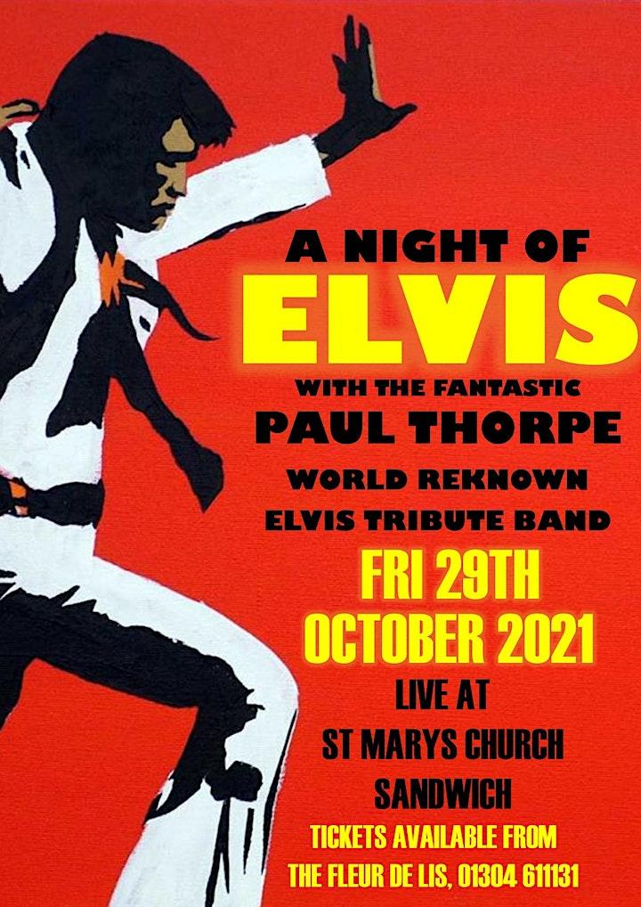 Elvis Tribute - Paul Thorpe & Live Band image