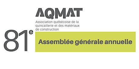 81e  Assemblée générale annuelle de l'AQMAT billets