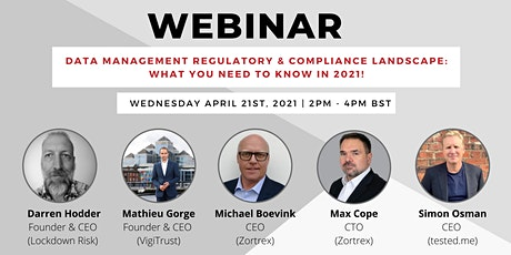 Data Management regulatory & compliance landscape: What you need to know! tickets