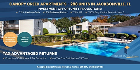Live Webinar - A New Multifamily Passive Investment Opportunity, 250+ Units tickets