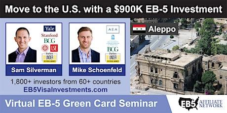 U.S. Green Card Virtual Seminar – Aleppo, Syria tickets
