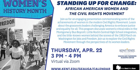Standing Up for Change: African American Women & the Civil Rights Movement tickets