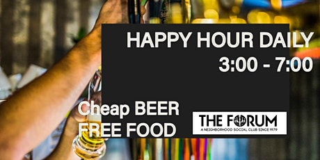 Happy Hour @the FORUM tickets