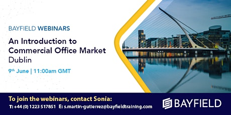 Property Webinar: An Introduction to Commercial Office Markets Dublin tickets