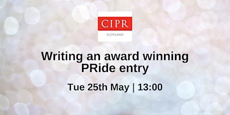 Writing an award-winning PRide entry tickets
