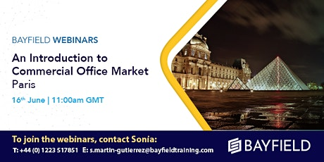 Property Webinar: An Introduction to Commercial Office Markets Paris tickets