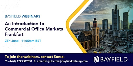 Property Webinar: An Introduction to Commercial Office Markets Frankfurt tickets