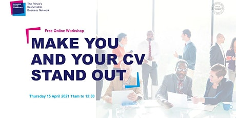 Make you and your CV stand out tickets