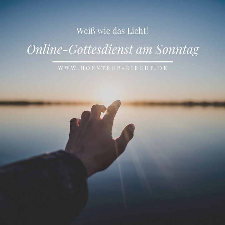 Online-Gottesdienst am Weißen Sonntag: Weiß wie das Licht!: Bild