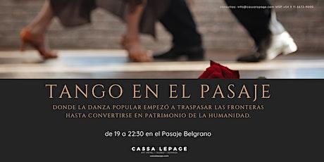 Tango en el Pasaje Belgrano - 1er encuentro. entradas