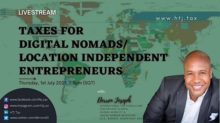 (LIVESTREAM) Taxes for Digital Nomads/Location Independent Entrepreneurs image
