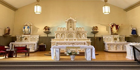 WATCH 4:30pm Mass Live-Streamed in HALL with Eucharist Sat, May 1, 2021 tickets