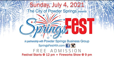 City of Powder Springs July 4 - SpringsFest! tickets