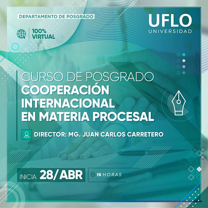 Imagen de Curso de posgrado: Cooperación Internacional de Derecho Procesal