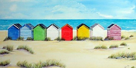 Paint and Sip at Home 'Beach Huts' tickets